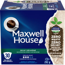 Maxwell House Decaffeinated 30ct Single Serve Coffee Pods