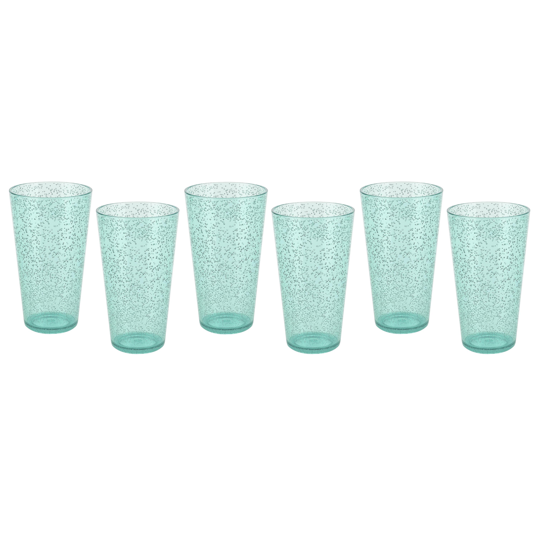 Spritz 23 ounce Highball Glass, Mint, 6-piece set slideshow image 1