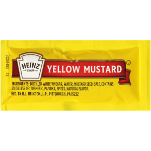 HEINZ Single Serve Mild Mustard, 0.2 oz. Packets (Pack of 500) image