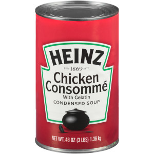 HEINZ Condensed Chicken Consomme Soup, 48 oz. Can, (Pack of 12) image