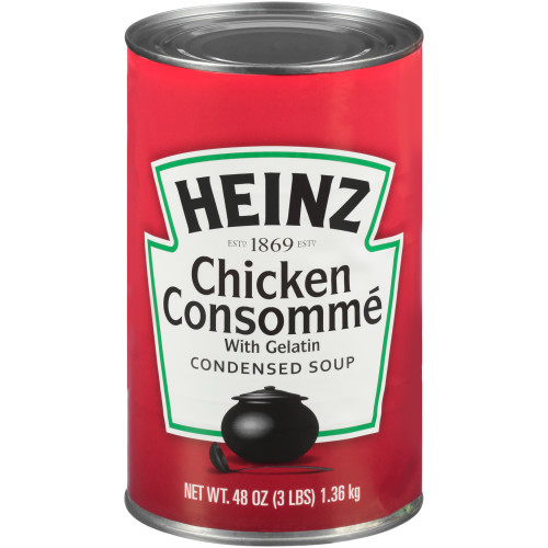 HEINZ Condensed Chicken Consomme Soup, 48 oz. Can, (Pack of 12)