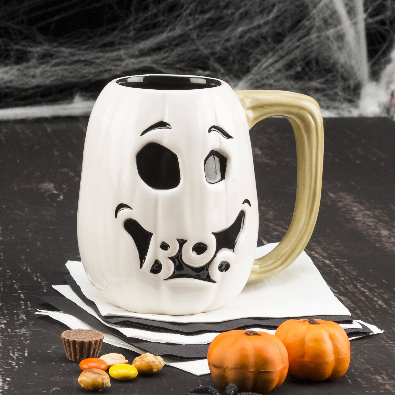Halloween 15 ounce Coffee Mug and Spoon, Ghost Pumpkin slideshow image 4