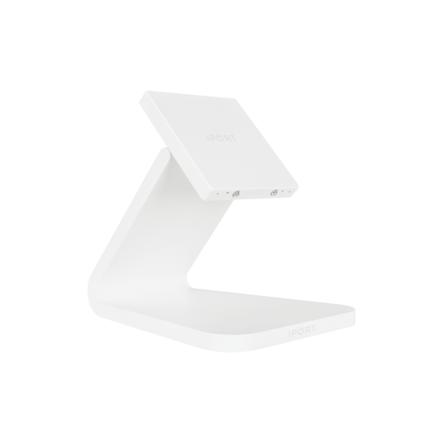 IPORT LUXE BaseStation, the premium iPad wireless charging station by IPORT in white.