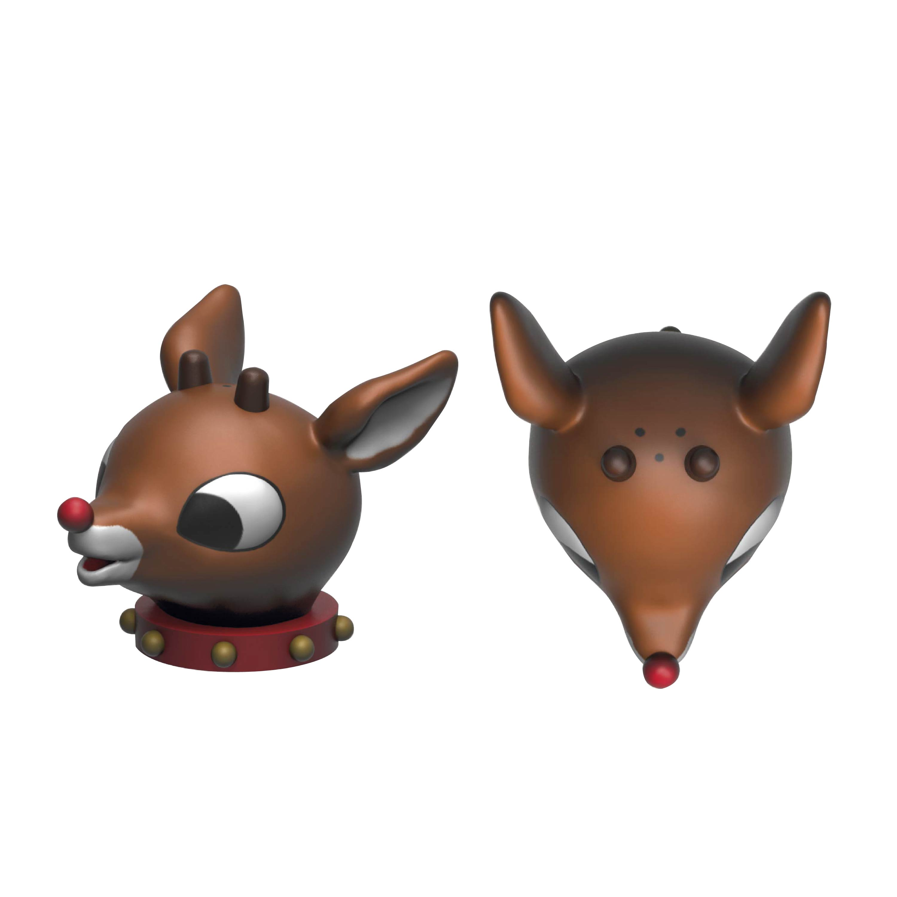 Rudolph the Red-Nosed Reindeer Salt and Pepper Shaker Set, Rudolph & Clarice, 2-piece set slideshow image 7