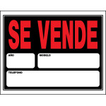 "Spanish Automobile for Sale Sign (15"" x 19"")"