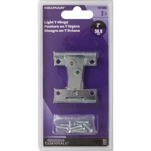 Hardware Essentials Zinc Light T-Hinges 2
