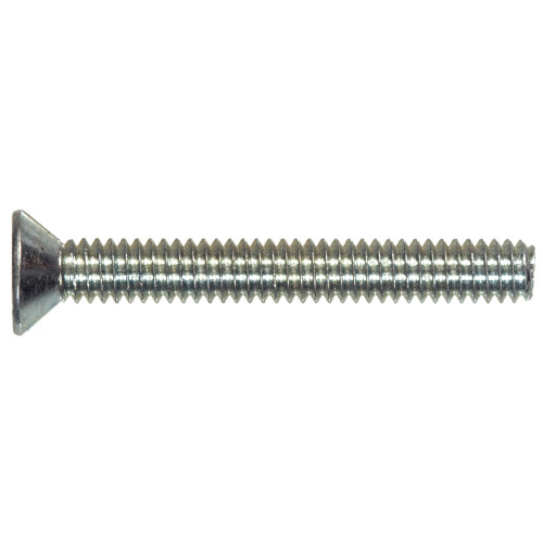 Zinc Flat Head Phillips Machine Screw #4-40 x 1/4