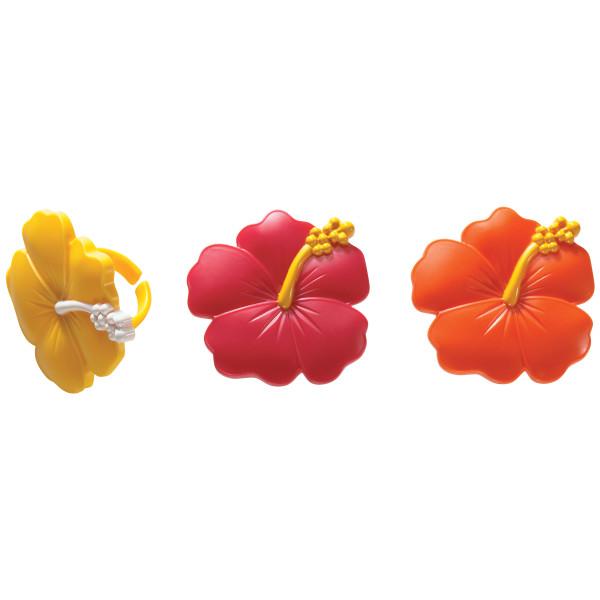 Hibiscus Flower Cupcake Rings