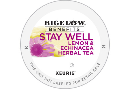Lid for Bigelow Benefits Stay Well Lemon and EchinaceaHerbal Tea K-Cups for Keurig