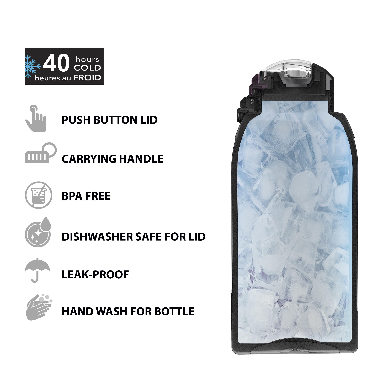 Genesis 64 ounce Stainless Steel Water Bottles, Viola slideshow image 4