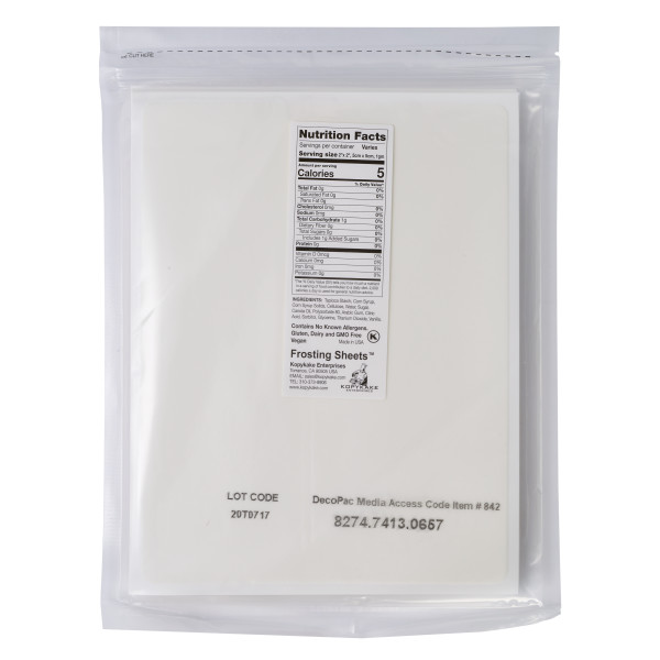 Frosting Sheets 1/4 Sheet Media PhotoCake® Edible Paper