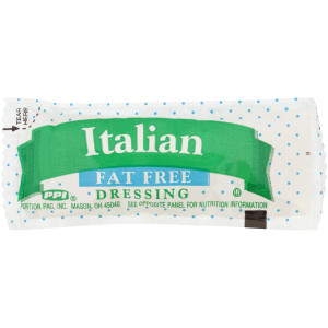 PPI Single Serve Fat Free Italian Dressing, 12 gr. Pouches (Pack of 200) image