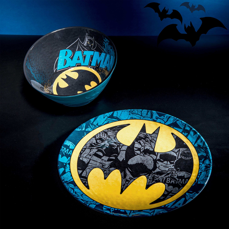 DC Comics Kids 9-inch Plate and 6-inch Bowl Set, Batman, 2-piece set slideshow image 10