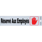 "French Adhesive Employees Only Sign (2"" x 8"")"