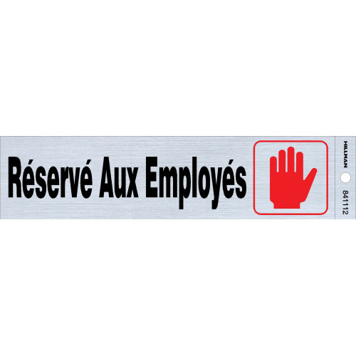 French Adhesive Employees Only Sign (2