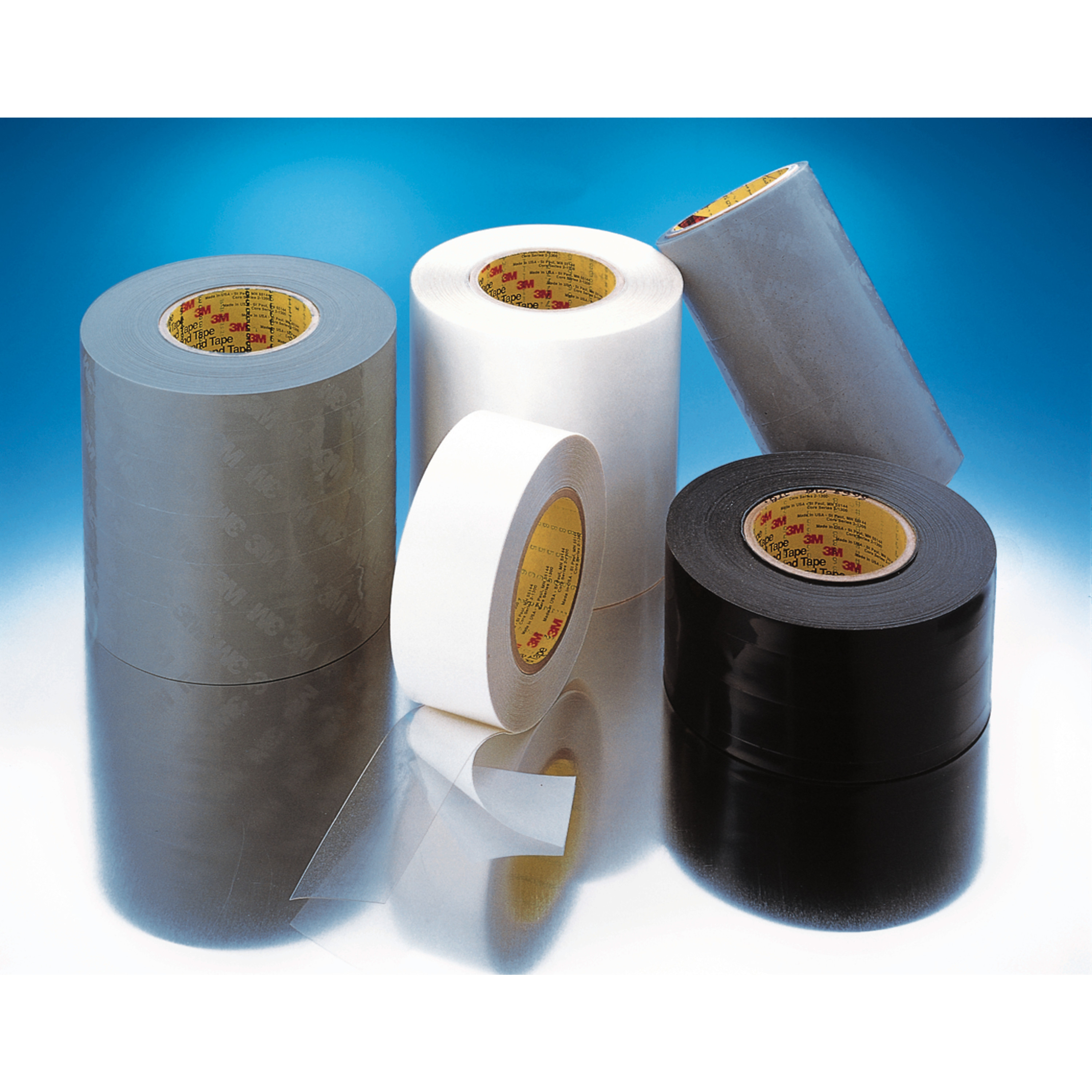 3M™ Polyurethane Protective Tape 8544, Black, PET Liner, 4 in x 3 yd, 1 Roll/Case, Sample