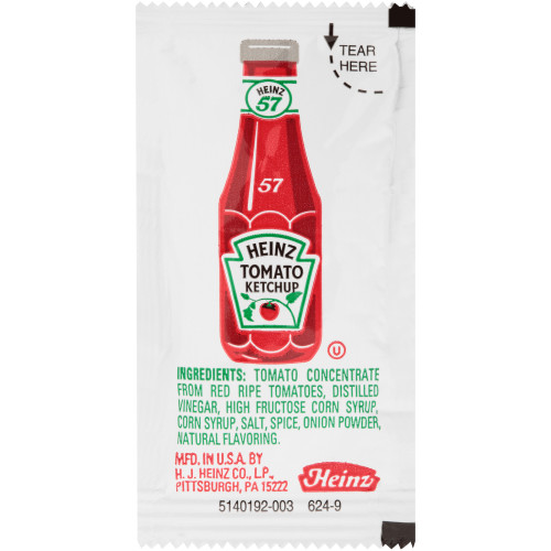HEINZ Single Serve Ketchup, 9 gr. Packets (Pack of 200)