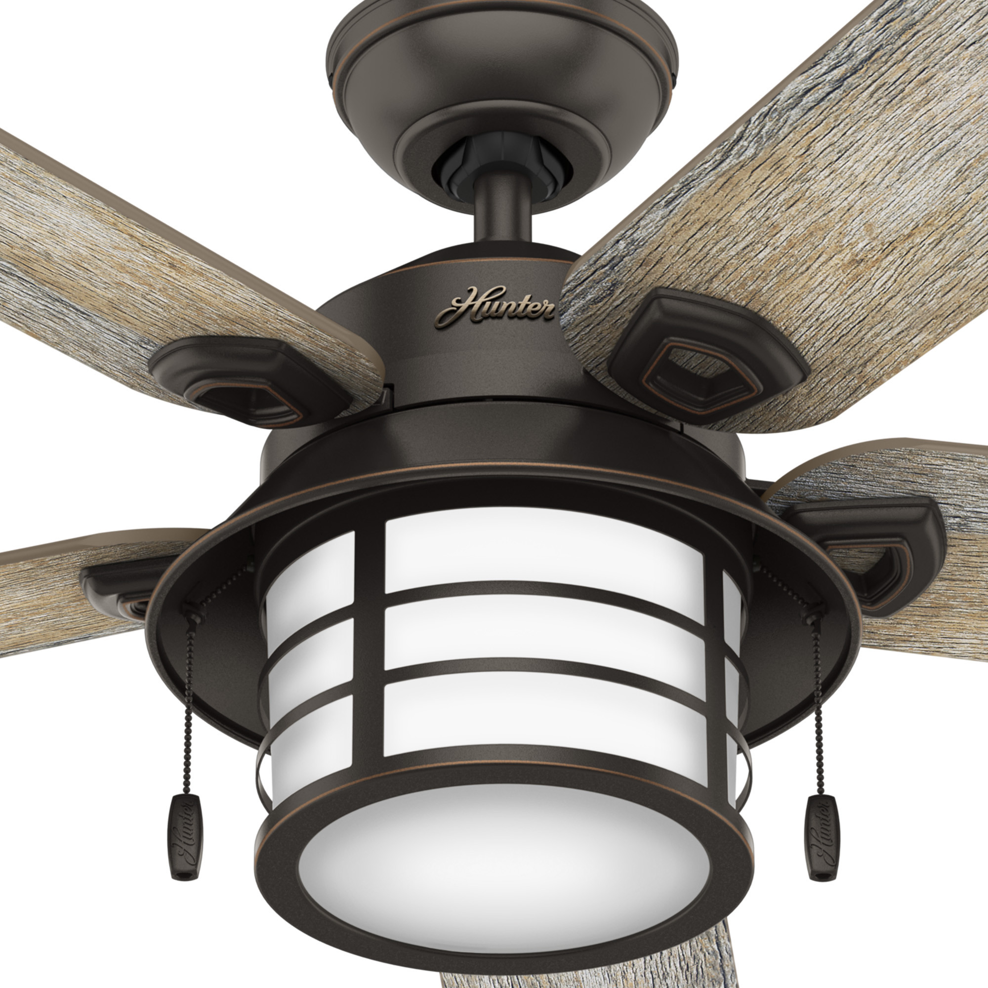 Hunter Outdoor Ceiling Fans With Lights: Hunter Key Biscayne Outdoor With Light 54 Inch Ceiling Fan
