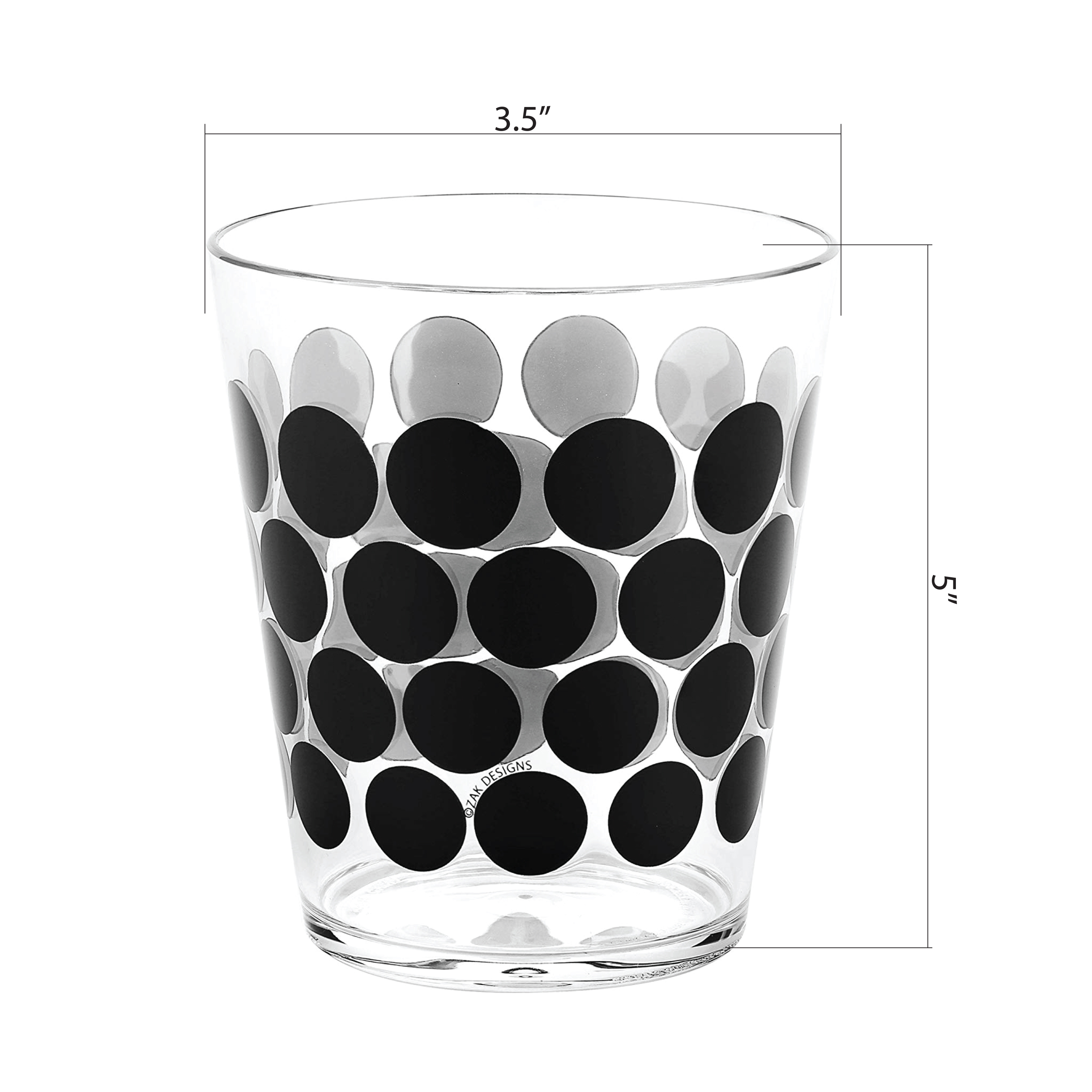 Dot Dot 15 ounce Old-Fashion Glass, Black, 6-piece set slideshow image 7