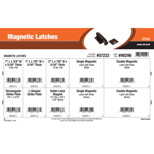 Magnetic Latches Assortment