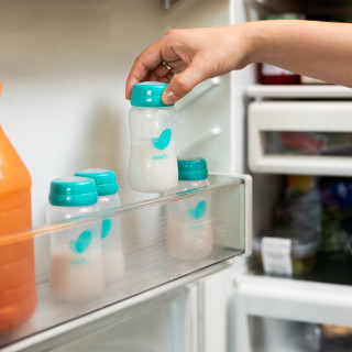 Pump to Store: Silicone sealing discs for spill resistant storage make these bottles easy to store in the refrigerator or freezer.