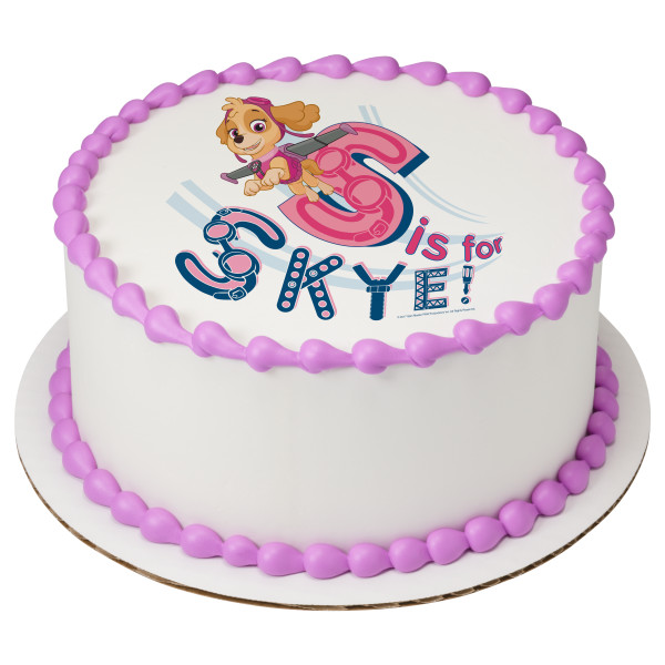 PAW Patrol™ S is for Skye PhotoCake® Image
