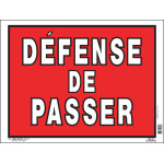 """French No Trespassing Sign (12"""" x 16"""")"""