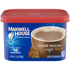 Maxwell House International Suisse Mocha Coffee 7.2 oz Canister