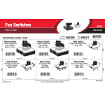 Fan Switches Assortment (Rotary & Slide)