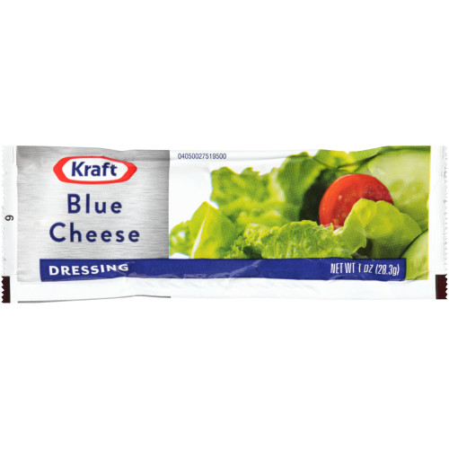 KRAFT Single Serve Roka Blue Cheese Salad Dressing, 1 oz. Packets (Pack of 100)