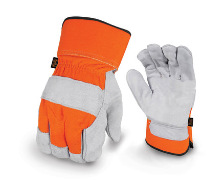 BLACK+DECKER BD520 Leather Palm Work Glove