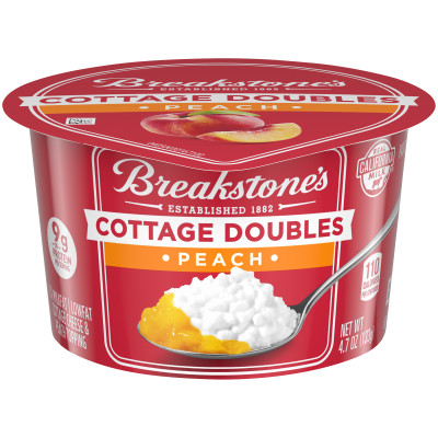 Breakstone's Cottage Doubles Peach Cottage Cheese 4.7 oz Cup