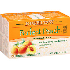 Perfect Peach Herbal Tea - Case of 6 boxes- total of 120 teabags