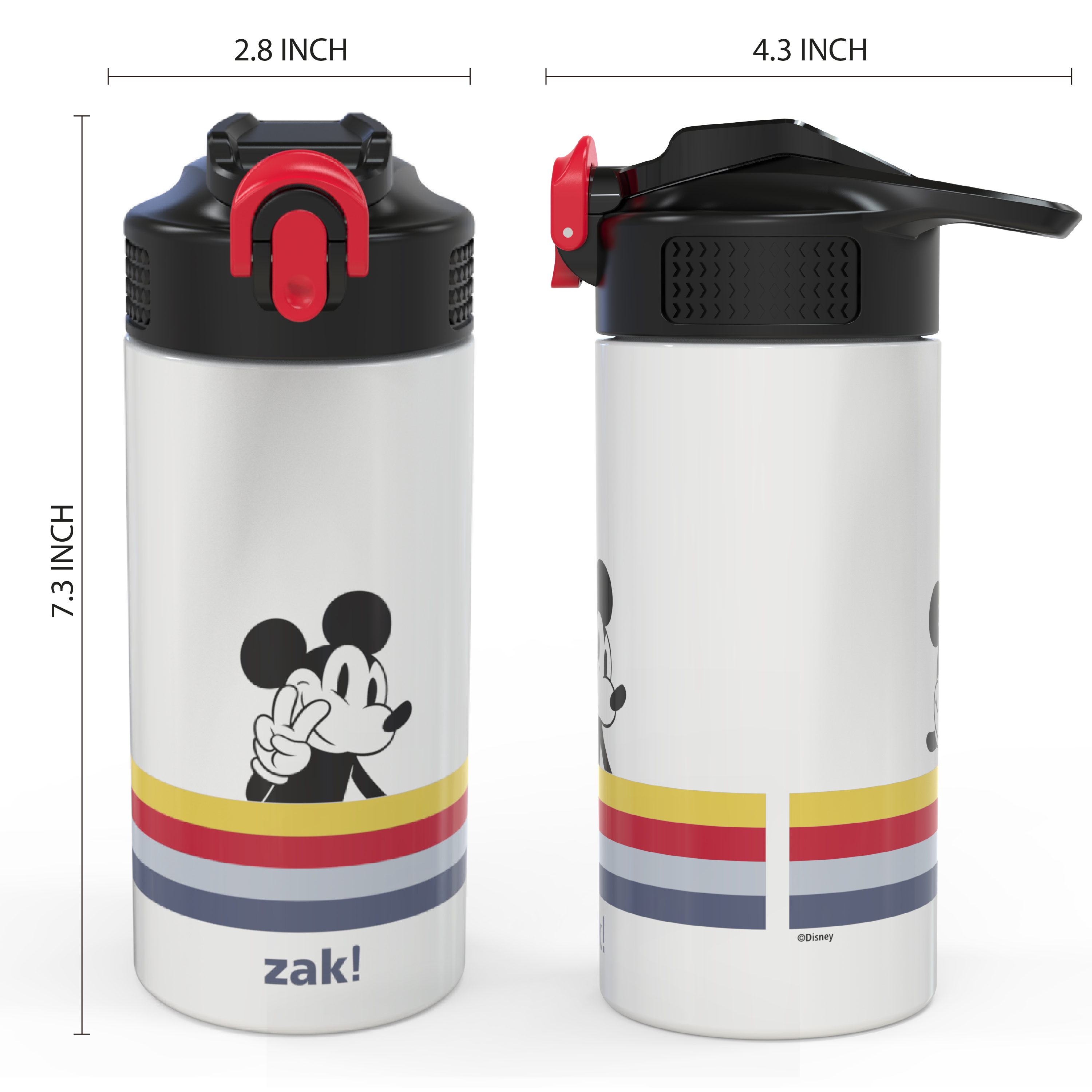 Disney 14 ounce Stainless Steel Vacuum Insulated Water Bottle, Mickey Mouse and Minnie Mouse slideshow image 4