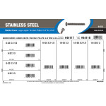 "Stainless Steel Phillips Pan-Head Long Length Machine Screws Assortment (#6-32 thru 1/4""-20)"
