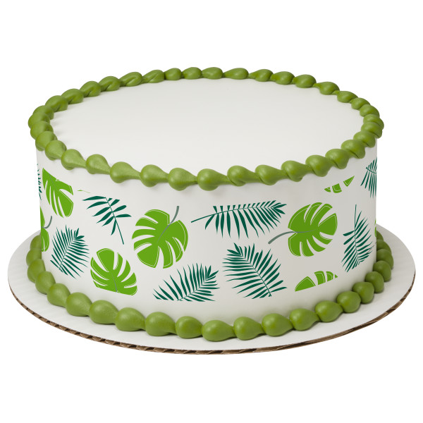 Tropical Leaves PhotoCake® Edible Image® Strips