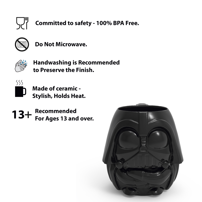 Star Wars 13 ounce Coffee Mug and Spoon, Darth Vader slideshow image 7