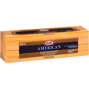 KRAFT American Sliced Cheese (160 Slices), 5 lb. (Pack of 4) image