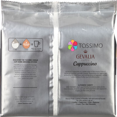 Gevalia Cappuccino Ground Coffee T-Disc for Tassimo Brewing System, 16 count