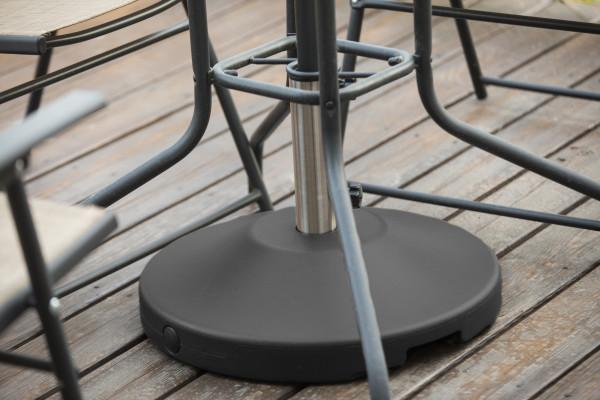 80 lb Free Standing Umbrella Base - Black 10