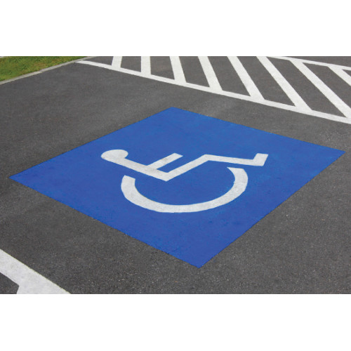 Hillman Handicapped Parking Symbol Stencil 30 x 36