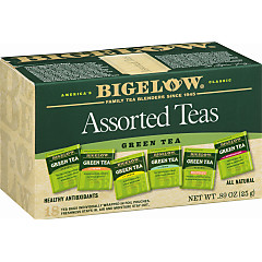 Six Assorted Green Teas - Case of 6 boxes - total of 108 teabags