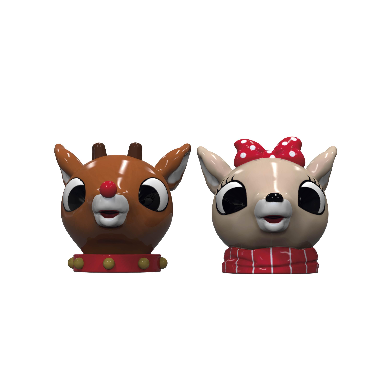 Rudolph the Reindeer Salt and Pepper Shaker Set, Rudolph & Clarice, 2-piece set slideshow image 2