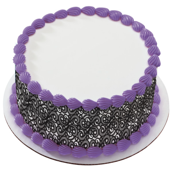 Black Lace PhotoCake® Edible Image® Strips