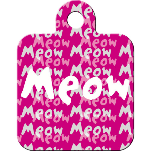 Meow Pink Small Square Quick-Tag 5 Pack