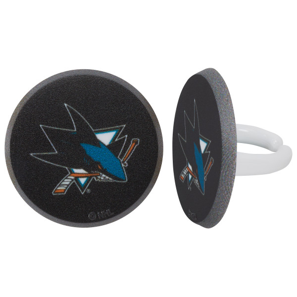 NHL® Team Puck Cupcake Rings
