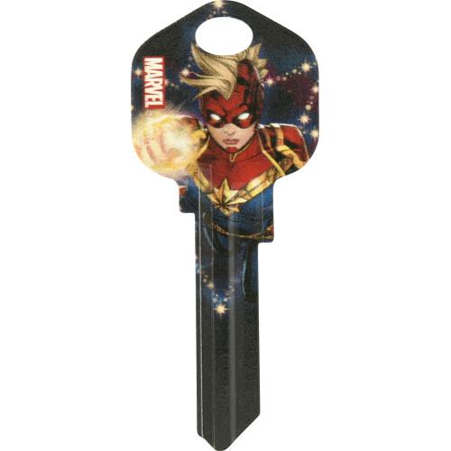 Marvel's Captain Marvel Fiery Fist Kwikset 66/97 KW1/10 Key Blank