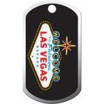 Las Vegas Chrome Large Military ID Quick-Tag
