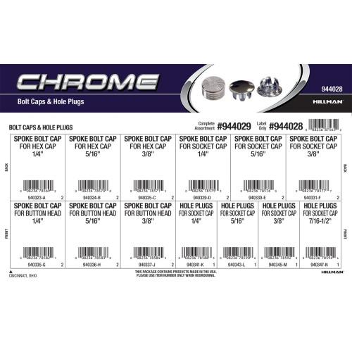 Chrome Bolt Caps & Hole Plugs Assortment
