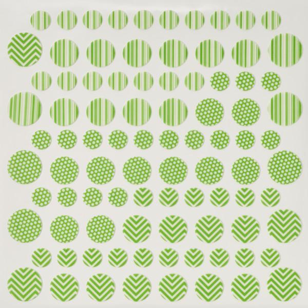 Pastel Green Printed Dots Fondant DecoShapes®